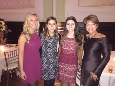 Heaven-like with our three beautiful daughter-in-loves! Left to right: Diana, Lauren, LT and Yours Truly