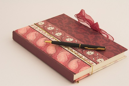 Writing journal and pen