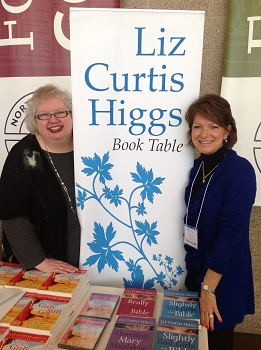 Liz and Eliz at book table