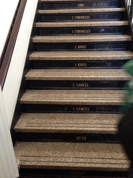 Pic of Stairs w-book of bible