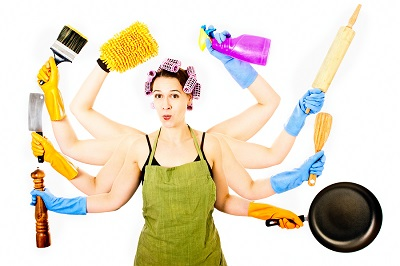 Happy with Housework