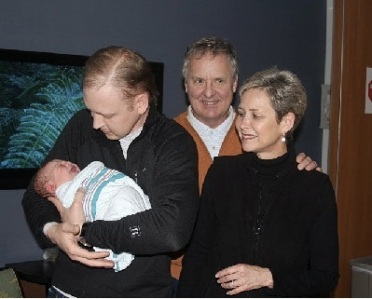 Louis Kirtley, his wife Olivia, their son, Chris and their grandson, Rhett