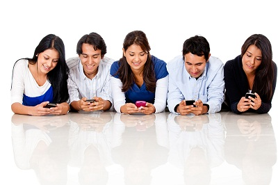 bigstock-Group-of-people-texting-on-the-32615255