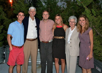 From Left to Right:  John Stein, Dr. Bob Sparks, Gordy Hoagland, Lauren Stein, Carol Sparks and Pam Stein