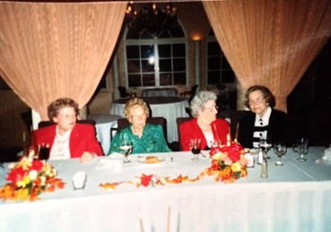 From left to right: My Mother, Anita Mills, Bem (Elizabeth Dawson), Louise Santorum, and June McCandless