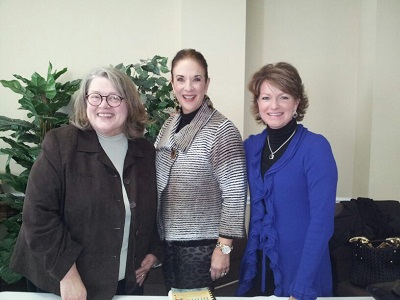 Pictured from left to right is Nancy Tinnell, Jane Chilton and yours truly.