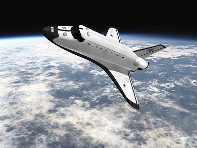 bigstock-Space-Shuttle-Flying-Over-Eart-2873702