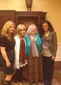 Pictured left to right:    Victoria Osteen, Beth Moore, Liz Curtis Higgs, & Priscilla Shirer