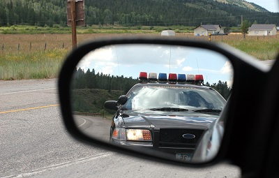 Mirror Police Police Lights In Rear View Mirror