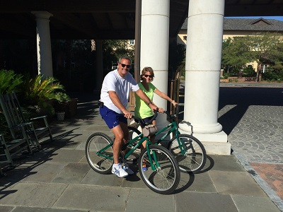 John and eliz biking