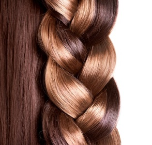 Braid Hairstyle. Brown Long Hair close up. Healthy Hair border i