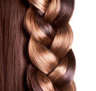 Braid Hairstyle. Brown Long Hair close up. Healthy Hair border i