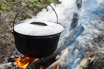 Cauldron On The Open Fire