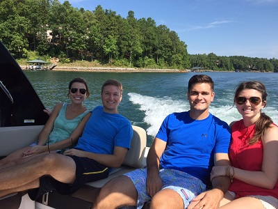 Cloudless day on Lake Keowee