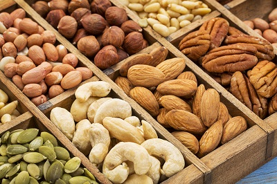 nuts and seed collection (cashew, pecan, hazelnut,pine nuts, pea