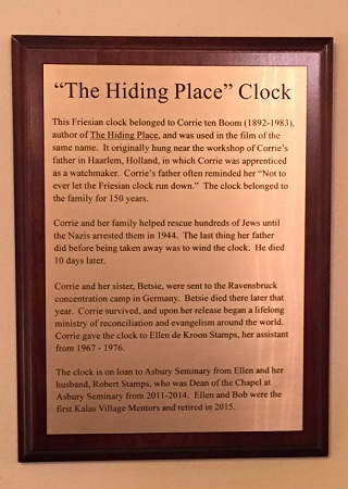hiding place clock plaque
