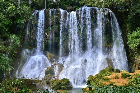 El Nicho Waterfall In Scambray Mountains. Cienfuegos Province, C