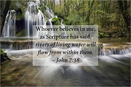 John 7 38 a