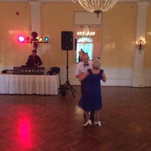 This couple, David and Bobbie Welsh, were the first on the dance floor and could dance circles around us